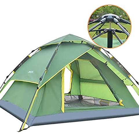 Outdoor 3-4 Full Automatic Tent Camping Camping Three People Speed Double Tent,blue