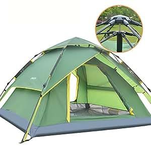 Outdoor 3-4 Piena Tenda Automatica Campeggi In Tre Persone Velocità Doppia Tenda,blu
