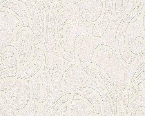 A.S. Création Vliestapete Soraya Tapete neo barock 10,05 m x 0,53 m beige creme metallic Made in Germany 305852 30585-2