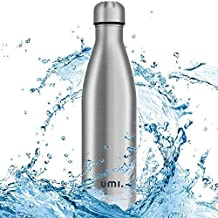 Umi. by Amazon - Botella Agua Acero Inoxidable, Termo 750ml, Sin BPA, Islamiento de Vacío de Doble Pared, Botellas Frío/Caliente, Reutilizable para Niños, Colegio, Sport, Gimnasio, Bicicleta