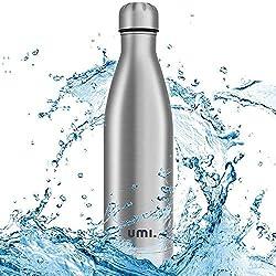 Umi. by Amazon - Trinkflasche Edelstahl,750ml, Vakuum Isolierte Thermosflasche, BPA Frei Wasserflasche Auslaufsicher, SportFlasche für Sport, Outdoor, Büro, Schule
