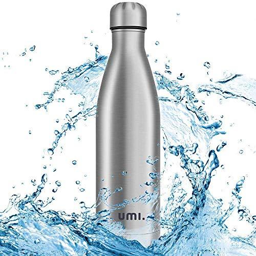 umi. by amazon - borraccia termica, 750ml bottiglia acqua in acciaio inox, senza bpa, 24 ore freddo & 12 caldo, borracce per scuola, sport, all'aperto, palestra, yoga
