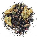 Aromas de Té - Tè Rosso Pu Erh Arcoiris con cardamomo, cannella, fette di mela, pezzi d'arancia, chiodi di garofano e pepe rosa, bevanda digestiva e detox, bevanda gustosa (100 gr)
