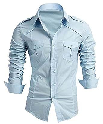 Nouveau casual luxe-homme-slim fit t-shirt herrenhemden chemises collection décontracté -  - Large