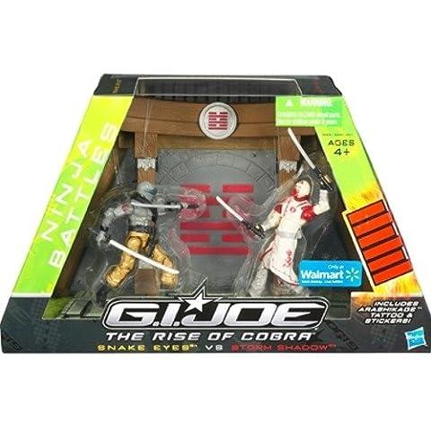 GI Joe Movie The Rise of Cobra Exclusive Ninja Battles Snake Eyes Vs. Storm Shadow by Hasbro (English Manual)