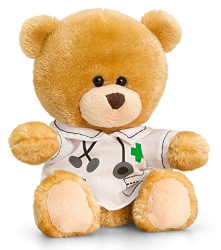 Chirurg Kostüm Patienten - Lashuma Plüschtier Bär, Pipp The Bear als Doktor, Kuscheltier Teddy Braun angezogen als Arzt, Teddybär mit Kleidung 14 cm
