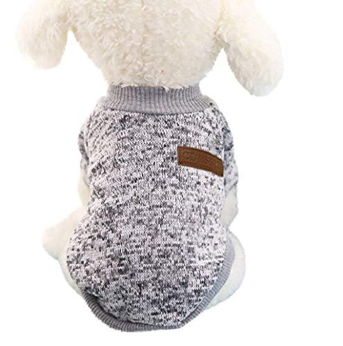 Hundebekleidung, Hund Welpe Rollkragen Hundepullover Winter Warme Mantel Strickpullover Hundejacke Sweater Weste T-Shirt Katze Fleece Haustier Kostüm für Kleinen Mittel Groß TWBB