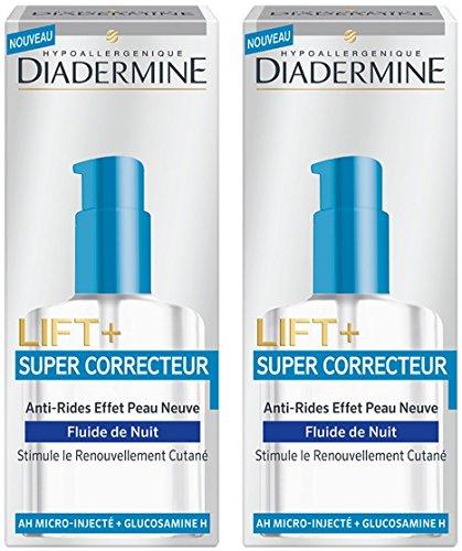 Diadermine - Lift + - Soin Nuit Anti Tâches - Super Correcteur Fluide - 50 ml - Lot de 2