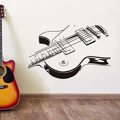 WWYJN Guitar Wall Stickers Music Art Wall Decal Home Decorations Guitar Design Removable Wallpaper Musical Instrument Wall Art57x37cm