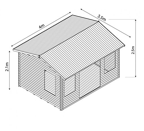 4m-x-3m-Bridgeford-Wooden-Stylish-Log-Cabin