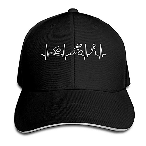 Zhgrong Caps Triathlon Heartbeat Vintage Sandwich Cap Baseball Adjustable Hats ny Cap Vintage-sandwich-cap