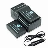 DSTE 2x LP-E17 Battery + DC163 Travel and Car Charger Adapter for Canon EOS M3 750D 760D Rebel T6i T6s 8000D Kiss X8i Digital Cameras