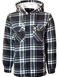 Miss Trendy Hooded Fleece Padded Lumberjack Shirt Jacket Fur Lined Sherpa Winter Warm Work