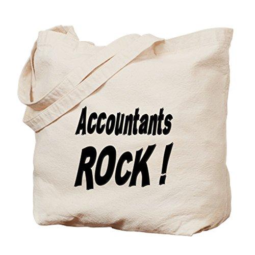 CafePress Buchhalter Rock ! Tragetasche, canvas, khaki, S -
