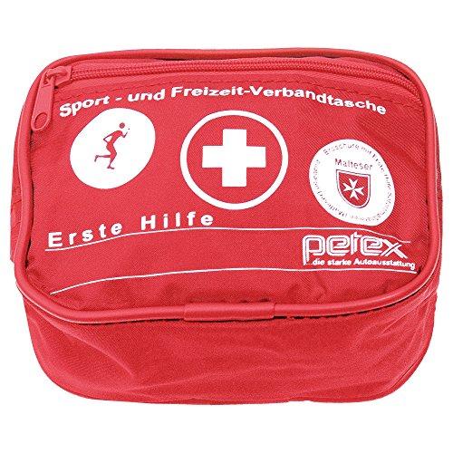 Preisvergleich Produktbild PETEX 43930112 Sport und Freizeit Verbandtasche, Rot