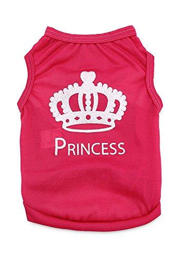 DroolingDog Pet Hund Prinzessin Kleidung T-Shirt für Kleine Hunde, Small (3.3-5.5lb), Rose -
