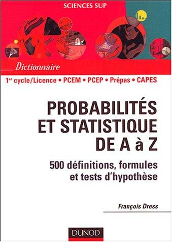 Probabilits et statistiques de A  Z