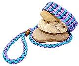Paracord Agilityleine Merlin, Handgeflochtene Hundeleine Inklusive Halsband, Individuelle Farbe und Größe, 4 Farben Kombinierbar