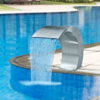 yorten Fuente Cascada para Piscina Duradera Acero Inoxidable 45x30x60 cm