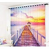 HAOTTP 3D Vorhang Undurchsichtige Vorhänge Für Küche Büro Schlafzimmer Fenster Vorhang Wohnzimmer Schmücken Oriental Sun Vorhänge Q 280X240cm