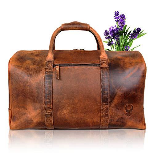 Leder Reisetasche für Damen und Herren I Vintage Ledertasche fü...