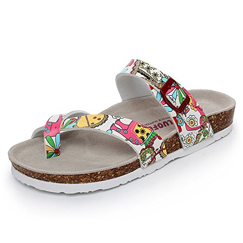 Sandales à la mode et à l'été Sandales antidérapantes Chaussures plates de plage de sable de 18 à 40 ans ( taille : EU37/UK4-4.5/CN37 )