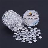 pandahall Elite Flat halbrund Transparent Dome Glass Cabochons Durchmesser in 10mm Fuer Foto Basteln Schmuck Machen 250 Stk/Kasten