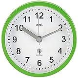 AMS 5922 Wanduhr / Tischuhr Funk Badezimmeruhr wasserdichte Badeuhr Kuststoffgehäuse Grün
