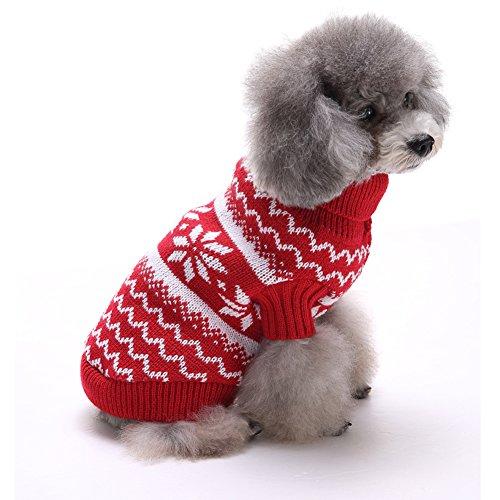 Tuopuda Navidad Mascotas suéter Invierno Perro Nieve Lana del Perrito Traje Caliente...