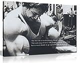 Panther Print Kunstdruck auf Leinwand, Arnold Schwarzenegger, Bodybuilding, Motivation-Zitat, groß, 76,2 x 50,8 cm [nicht in deutscher Sprache]
