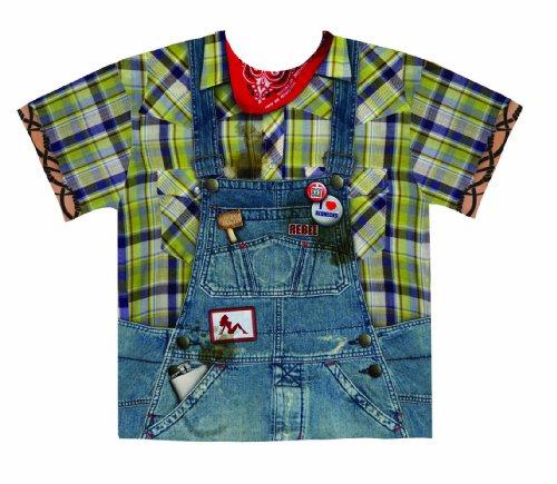 Faux Real Tees Herren Hillbilly Shirt (Cat Hillbilly)