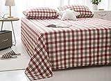 SJKIOPNMBNJK Doppel Tagesdecke Einfach Baumwolle Gewaschen Latex Blätter von Mode Doppelbett Bettlaken 240x270cm(94x106inch) F
