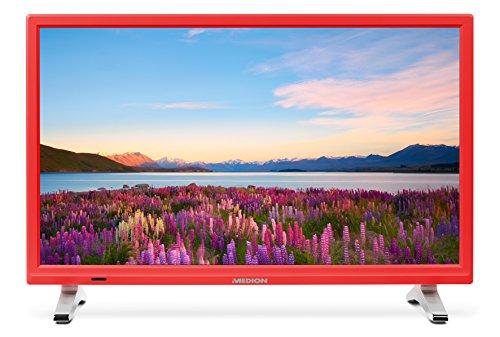 Medion Life P13500 MD 21500 54,6 cm (21,5 Zoll Full HD) Fernseher (LCD-TV mit LED-Backlight, Triple Tuner, DVB-T2 HD, HDMI, CI+, integrierter Medienplayer) rot