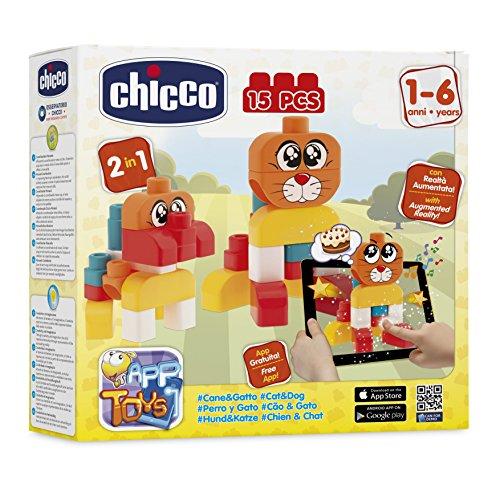Chicco - Boite de Construction - Chien Et Chat - 15 Pièces