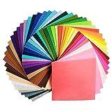 42Pcs Filzstoff Farbig Bastelfilz Steif Vliesstoff DIY