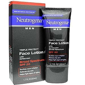 Neutrogena Men Triple Protect Face Lotion, SPF 20, Advanced Formula, 1.7 Flui...