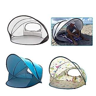 HEIRAO Tienda de Playa – Tienda de campaña Impermeable de Gran tamaño – Tienda de protección UV – Tienda de cúpula para Playa, Pesca, Camping, Salidas, de 3 a 4 Personas