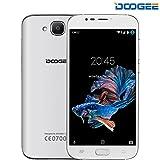 DOOGEE X9 MINI Smartphone Libre - Android 6.0 3G Teléfonos Móviles Libres Baratos (Pantalla 5,0 IPS, MTK 6580 64 bits Quad Core, 5.0MP Cámaras, 8GB ROM, Huella Dactilar, Dual SIM Teléfono Móvil) - Blanco