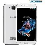 Telephone Portable Debloqué, DOOGEE X9 MINI Smartphone 3G Double SIM - Ecran 5 Pouces HD Verre incurvé 2,5D - 8Go ROM - Quad Core MT6580 - Appareil Photo 5MP - Empreinte Digitale - Android 6,0 Téléphone Portable Pas Cher Sans Forfait - Blanc
