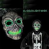 SOUTHSK Neue Tod schädel - Maske mit Mode Scheint, Kalten grünes Licht für Partei,LED - Leuchten ,DJ Maske