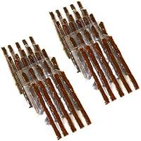 AERZETIX Kit de 50 mechas 10cm para reparación neumáticos de coche y moto C1648