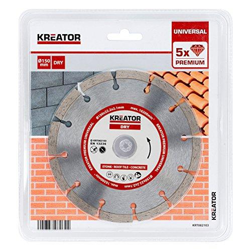 KRT082103 Premium Diamant Trennscheibe Ø150mm für Beton, Dachziegel & Stein Bohrung 22,2mm
