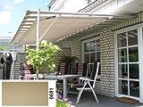 Vlexy Plus Terrassenüberdachung von Leco in beige NEU
