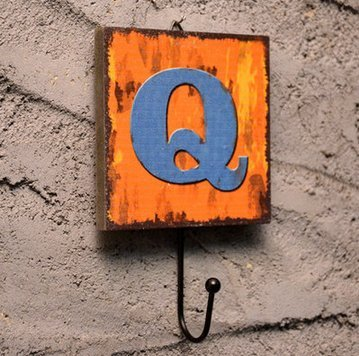Crochet Mural Vintage Design Decoratif Porte Clés Original Q Alphabet Lettre