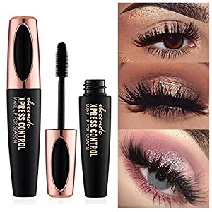 MOGOI 4D Fibra de Seda Pestañas Negro Impermeable Máscara Extensión Maquillaje Pestañas Pestañas de Larga Duración al…