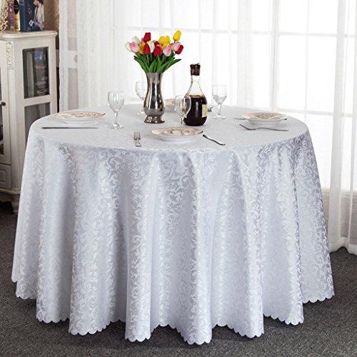 Unbekannt %Tablecloth Runde Tischdecke, Speisetisch Tischdecke mit Blumen Tabelle Rock Restaurant Hotel Kaffeetisch Tischdecke Weiß/Gelb (Farbe : Weiß, größe : Round-300cm) (Tabelle Rock Runde)