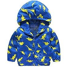 Bebé niño chaqueta con capucha , Yannerr Chico invierno Dinosaurios Dibujos encapuchados abrigos sudadera capa ropa outwear