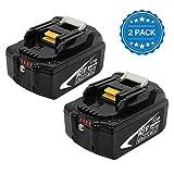 2X BL1860B 18V 5,5 Ah Lithium Packs de batterie remplacement pour Makita batterie 18V...