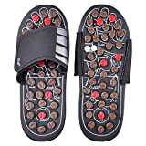 #4: LUMONY Acupressure Therapy Sandals/Foot Massager Slipper/Acupressure Foot Relaxer/Rotating Acupressure Foot Slippers for Men & Women (Free Size)