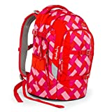 SATCH Chaka Cherry Schulrucksack SAT-SIN-001-9D0, 45 cm, 30 L, Red Pink Bricks